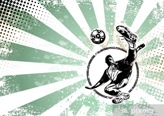 Fototapeta zmywalna Soccer tło plakatu retro - Tematy