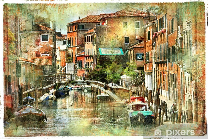 Venice, artwork in painting style Vinyl Wall Mural - iStaging