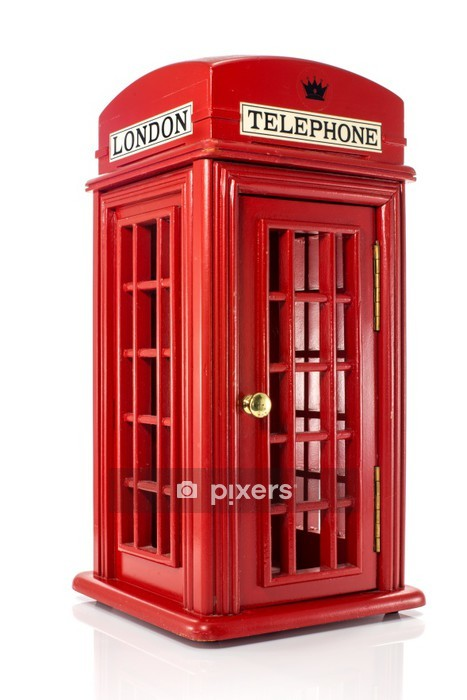 english londen telephone Wall Decal - Home and Garden