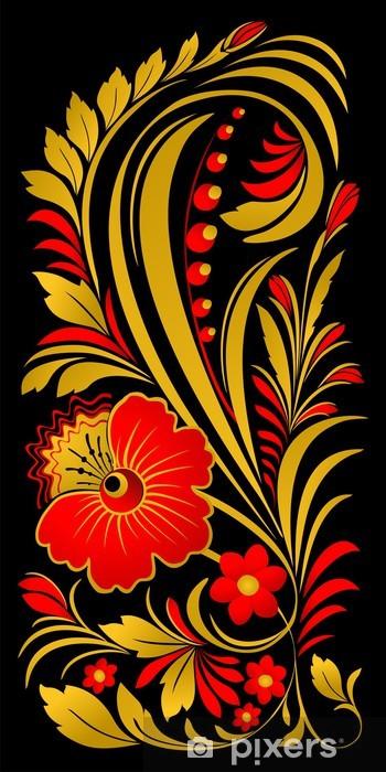 Fototapeta winylowa Kwiatowy ornament w tradycyjnym rosyjskim stylu - Tekstury