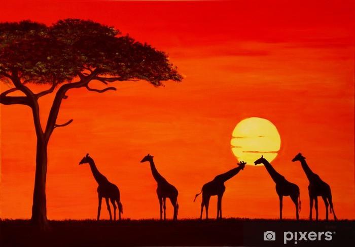 Carta da Parati in Vinile Sonnenuntergang in Afrika