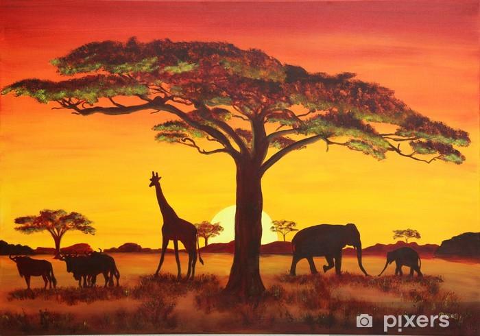 Fotomural Estándar Puesta del sol en África - Temas