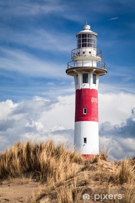 Vinyl Fotobehang Lighthouse in Nieuwpoort. Belgium. - Vuurtoren