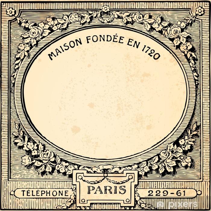 Poster Fond cadre floral - Stile