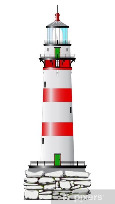 Vinyl-Fototapete Isolierte Leuchtturm - Infrastruktur