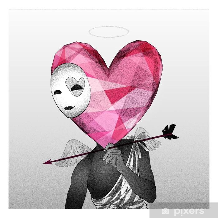 Zelfklevend Fotobehang Hart cupido verliefd - Thema's