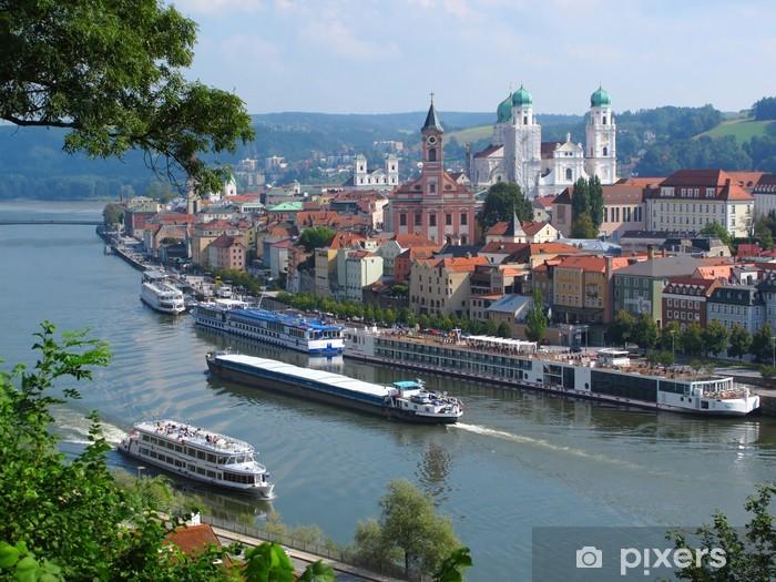Fotomural Estándar Passau, ciudad de tres ríos, Baviera, Alemania. - Alemania