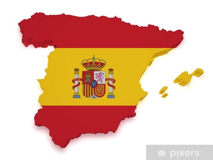 Espanja Kartta 3d Muoto Tapetti Pixers Elamme Muutoksille