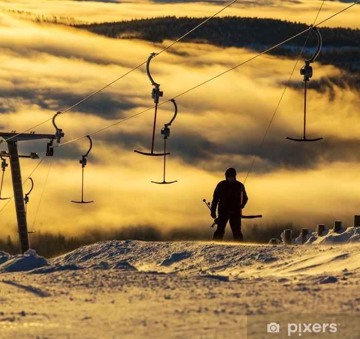 Papier peint vinyle Station de ski - Thèmes