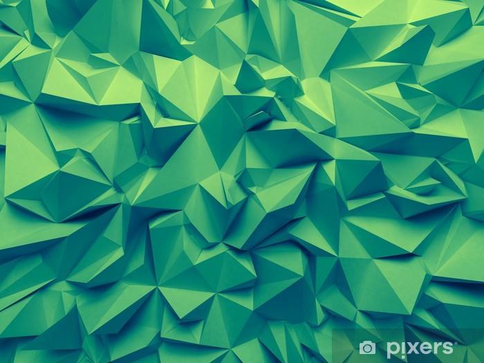Camera Da Letto Verde Smeraldo : Carta da parati astratto alla moda verde smeraldo sfaccettato