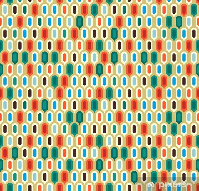 Mural de Parede em Vinil Retro abstract seamless pattern - Indústria Pesada