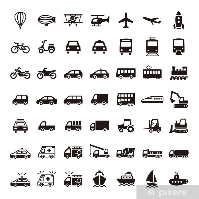 Vinyl-Fototapete Piktogramm - Straßenverkehr