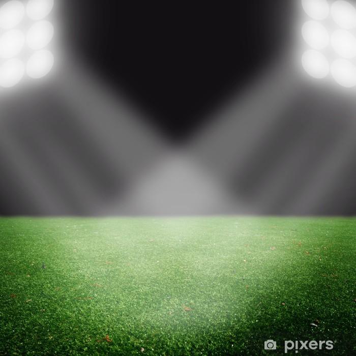 Naklejka Pixerstick Boisko do piłki nożnej z jasnymi światłami - Tła