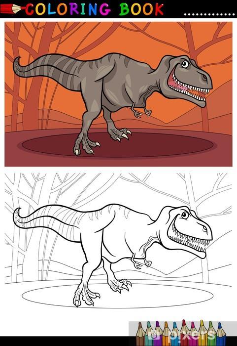 Tyrannosaurus Boyama Için Dinozor Rex Duvar Resmi Pixers Haydi