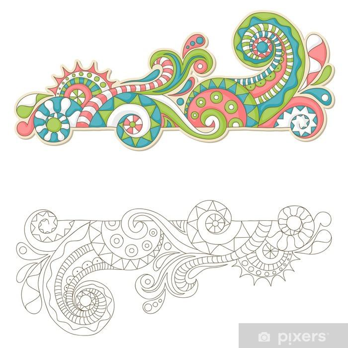 Plakat Kolorowe doodle - Znaki i symbole