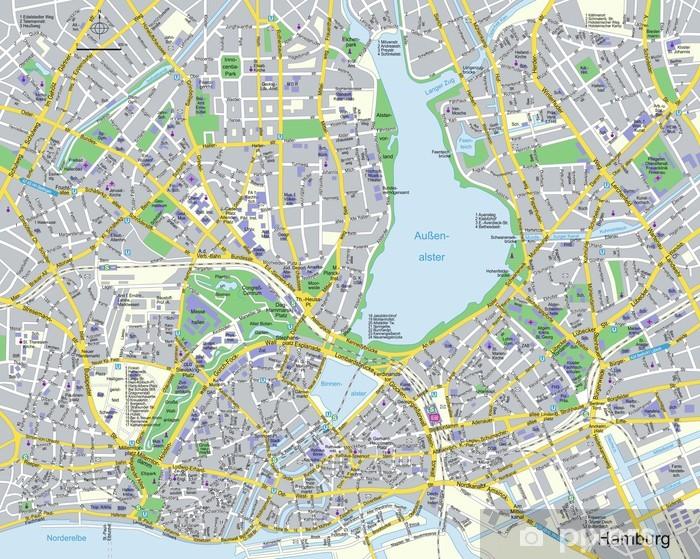 Naklejka Pixerstick Citymap Hamburg - Europa