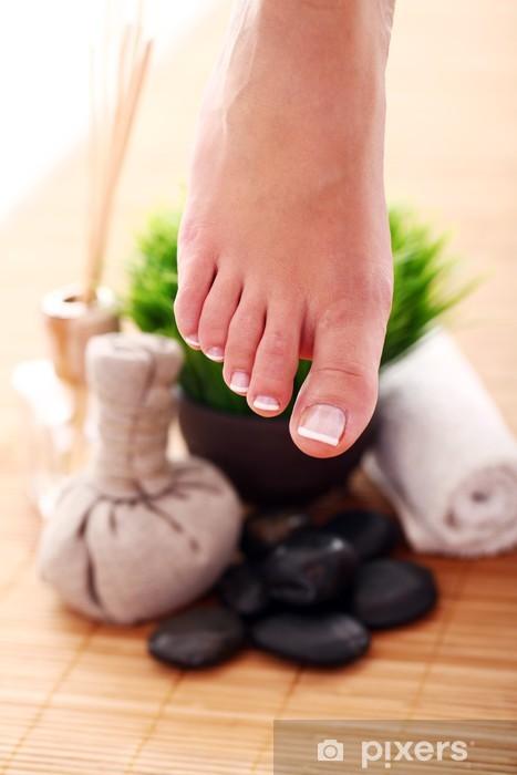 Pixerstick Sticker Afbeelding van SPA pedicure - Schoonheid en Lichaamsverzorging