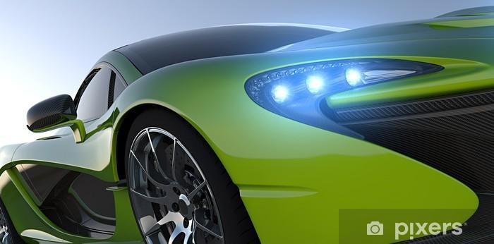 Naklejka Pixerstick Sportcar zbliżenie zielony - Sukces i osiągnięcia