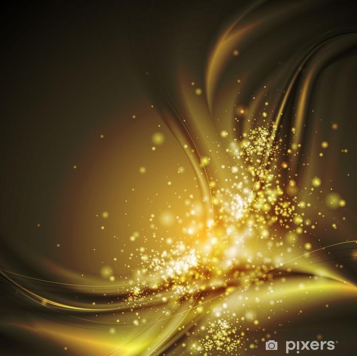 Naklejka Pixerstick Dark Orange błyszczące fale - Abstrakcja
