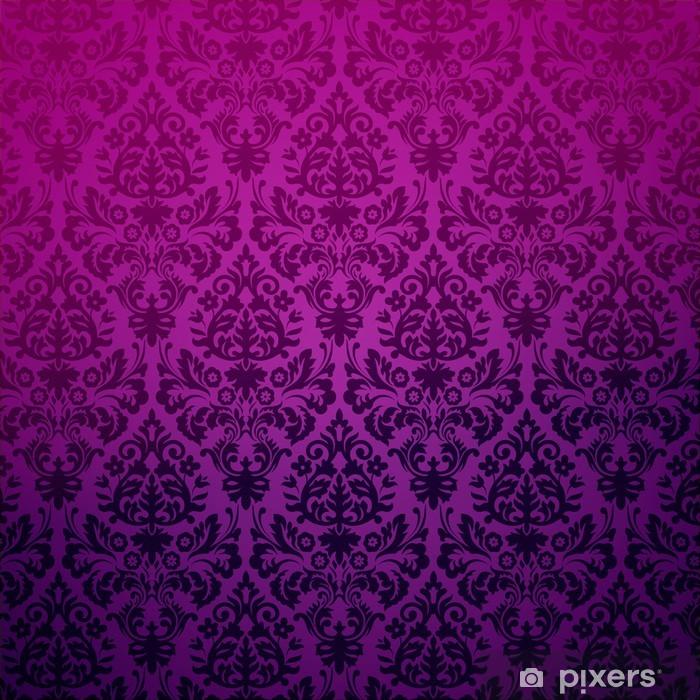 Vinilo Pixerstick Estampado de flores del damasco, vector Eps 10 ilustración. - Temas