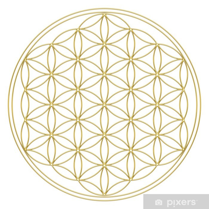 Fototapeta winylowa Flower of Life - Flower of Life - Budda