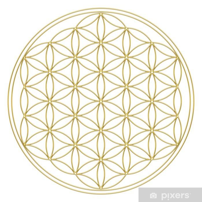 Papier peint vinyle Blume des Lebens - Fleur de la vie - Bouddha