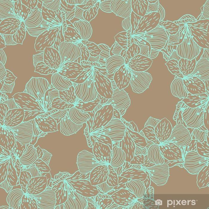 Cojín decorativo Resumen elegancia sin fisuras patrón de flores con la orquídea. - Flores