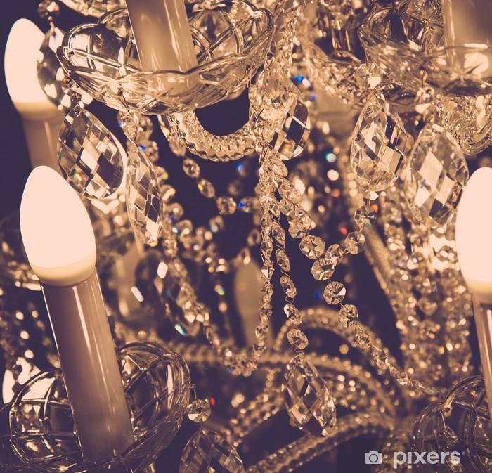 Nálepka Pixerstick Luxusní křišťálové lampy - Domov a zahrada