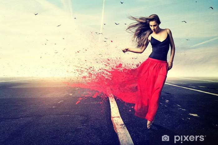 Fototapeta winylowa Red Taniec - Sporty indywidualne