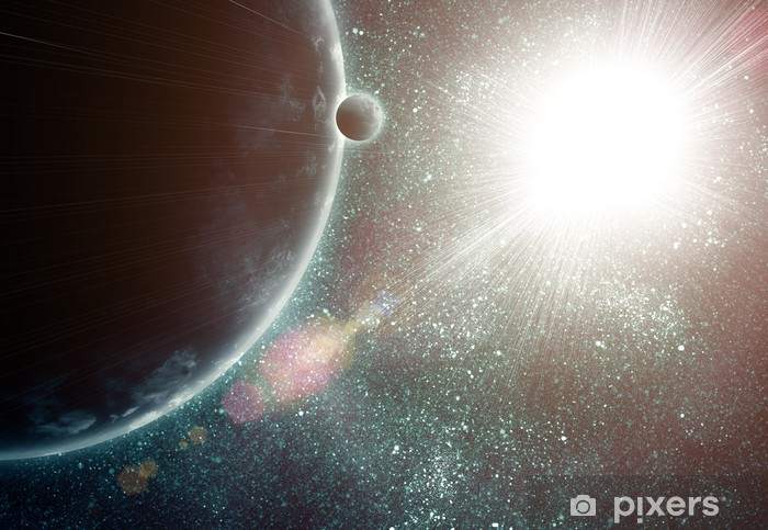 illustration of fantastic space Vinyl Wall Mural - Backgrounds