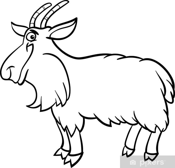Fotomural Granja de la cabra de libro para colorear • Pixers ...