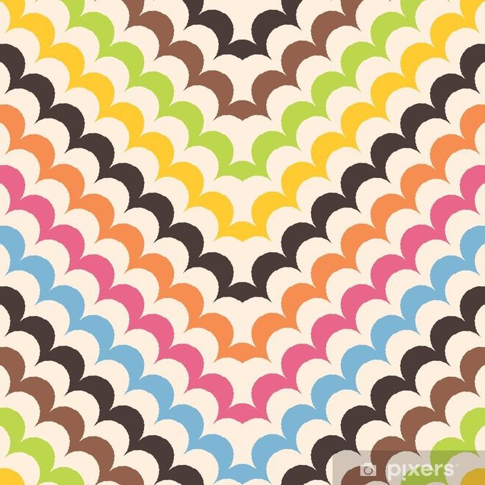 Papier peint vinyle Chevron échelles motif, le pétoncle de fond sans soudure - Mode