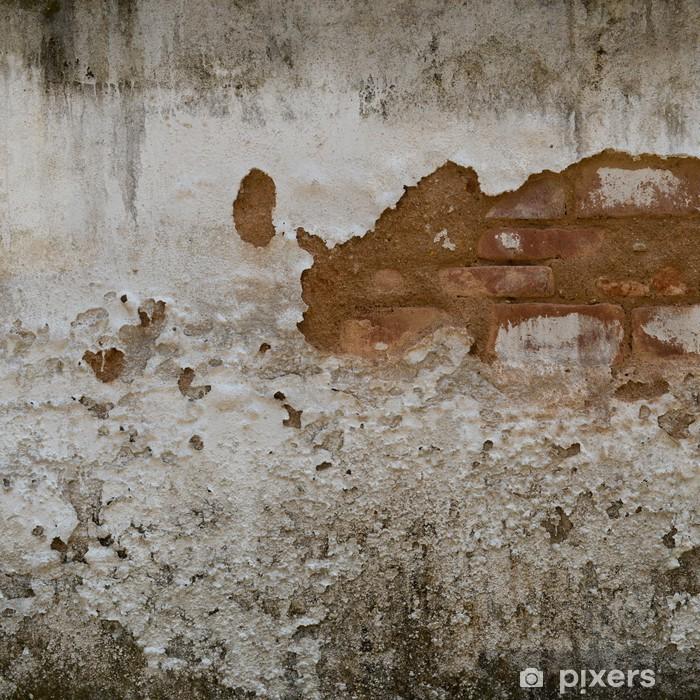 Naklejka Pixerstick Pęknięty stary ceglany mur beton - iStaging