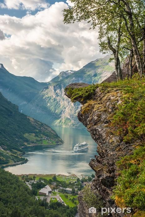 Papier peint vinyle Fjord de Geiranger, Norvège - Thèmes