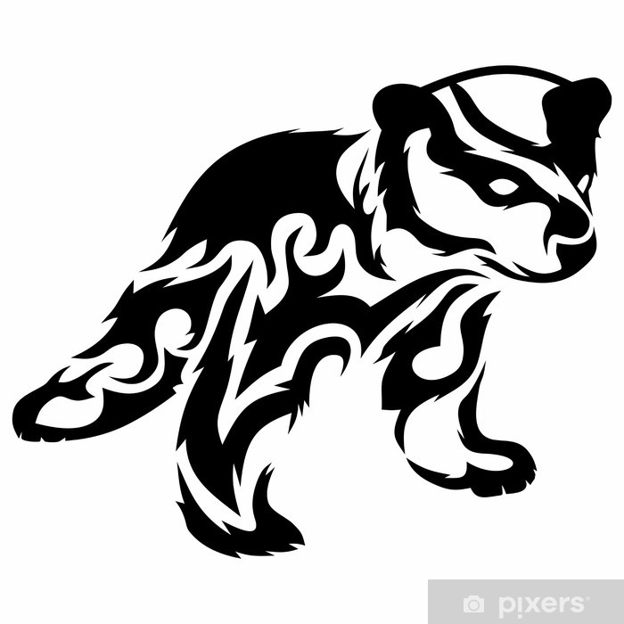Tribal Bear Cub Vector Tattoo Sticker Pixerstick