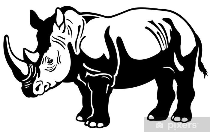 Naklejka Pixerstick Nosorożec czarny biały - Ssaki