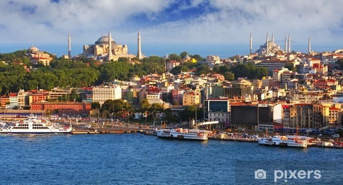 Sticker Pixerstick Istanbul à partir de la tour de Galata, Turquie - Thèmes