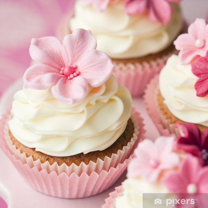 Sticker Pixerstick Fleur petits gâteaux - Bonbons et muffins