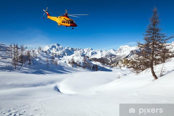 Adesivo Pixerstick Elicottero di soccorso - Aereo