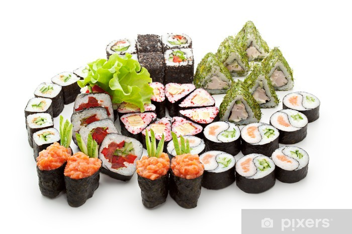 Papier peint vinyle Sushi set - Sushi