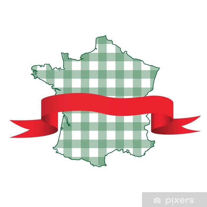 Sticker Pixerstick France carreaux et ruban - Vente