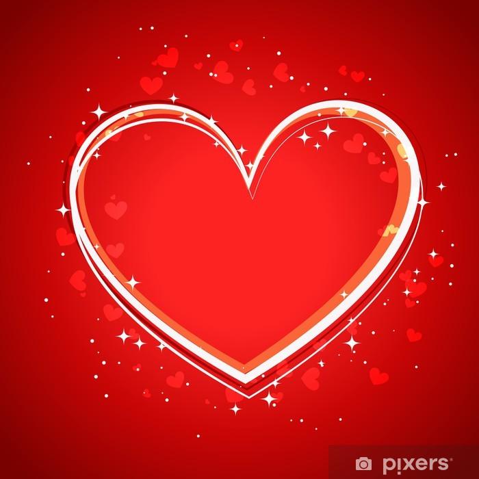 Sticker Pixerstick Heart Background - Fêtes internationales