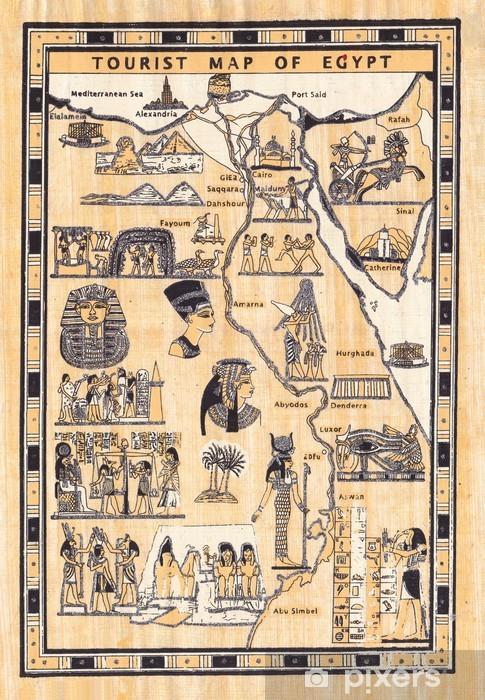 Cartina Turistica Egitto.Carta Da Parati Mappa Turistica D Egitto Dipinta Su Papiro Pixers Viviamo Per Il Cambiamento
