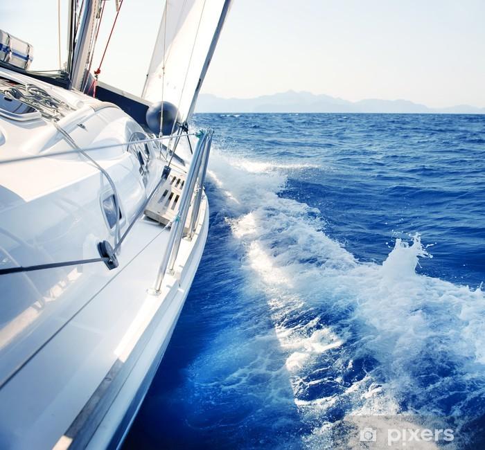 Pixerstick Sticker Yacht. Zeilen. Yachting. Toerisme. Luxury Lifestyle - Natuur