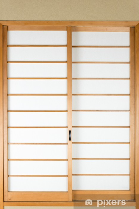 Naklejka Pixerstick Japoński papier przesuwne drzwi Shoji - Zabytki