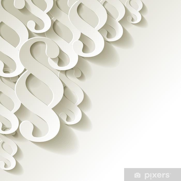Papier peint lavable Blanc paragraphe coin de papier - Justice