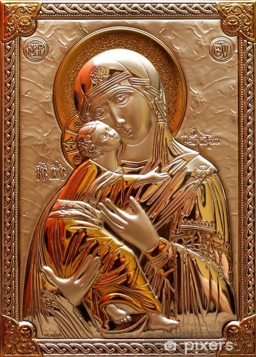 Sticker Pixerstick Notre-Dame Immaculée avec Dieu - Thèmes