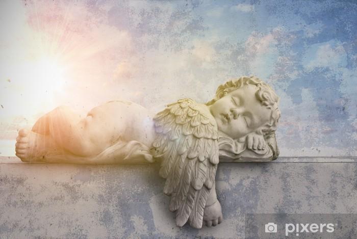 Pixerstick-klistremerke Schlafender Engel im Sonnenschein - Themes