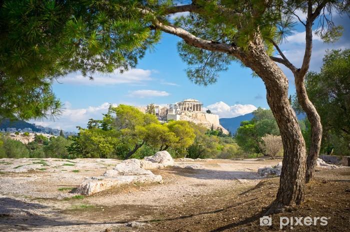 Fotomural Estándar Hermosa vista de la antigua Acrópolis, Atenas, Grecia - Temas