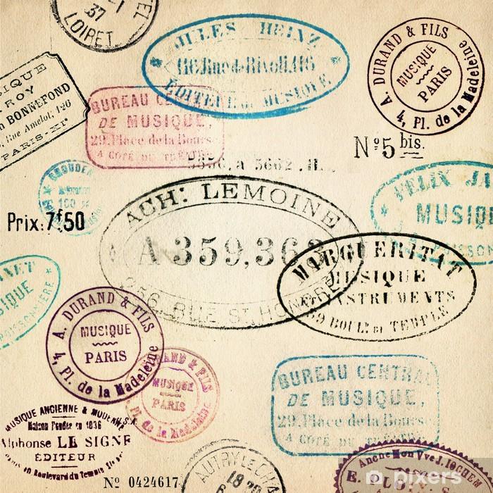 Vintage stamps background Poster - Backgrounds